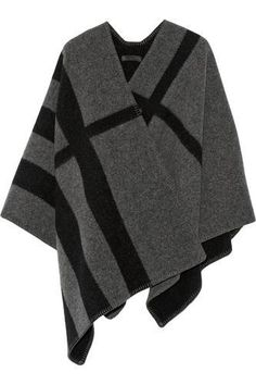 Burberry Prorsum - Checked wool and cashmere-blend cape from NET-A-PORTER. Saved to Outwear. Wool Cape, Cape Coat, Burberry Prorsum, Victoria Beckham, Monica Vinader, Denim Jeans, Chloe, Fashion For Women Over 40, Light Jacket