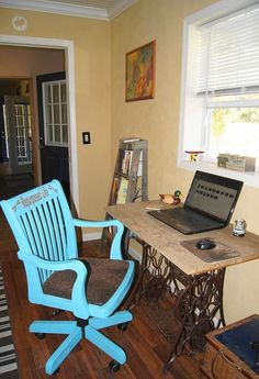laptop table made from boards from old family home 1906, painted furniture, repurposing upcycling