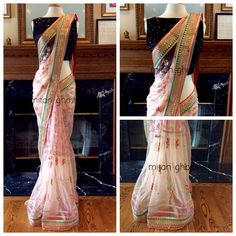 Heavily embellished net Saree