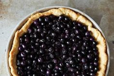 A BLUEBERRY PIE with filling that isn't too thin or too thick.