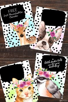Free Animal Journaling Cards for all your Journaling needs. #FreeJournalCards #JournalCards #JournalingCards #FreePrintable