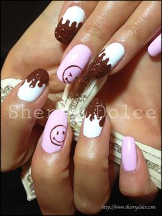 chocolate #nail #nails #nailart