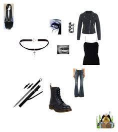 """""""Traflar"""" by janiefay-russell on Polyvore featuring T By Alexander Wang, Miss Selfridge, A Gold E, Dr. Martens and Yves Saint Laurent"""