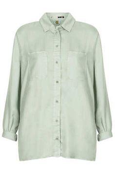 MOTO Mint Tencel Shirt - Denim Tops - Denim - Clothing
