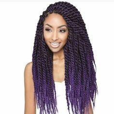 Marley twist with purple tips