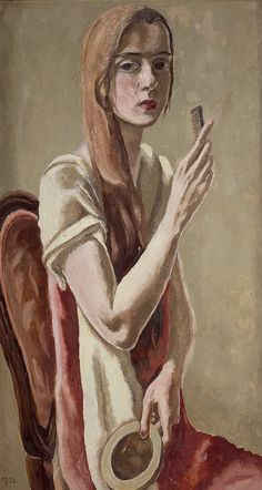 Marie-Louise von Motesiczky - Self Portrait with a Comb and a Mirror (1926)