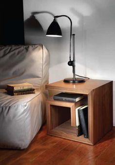 Table de chevet / contemporaine / en bois G hmd-interiors