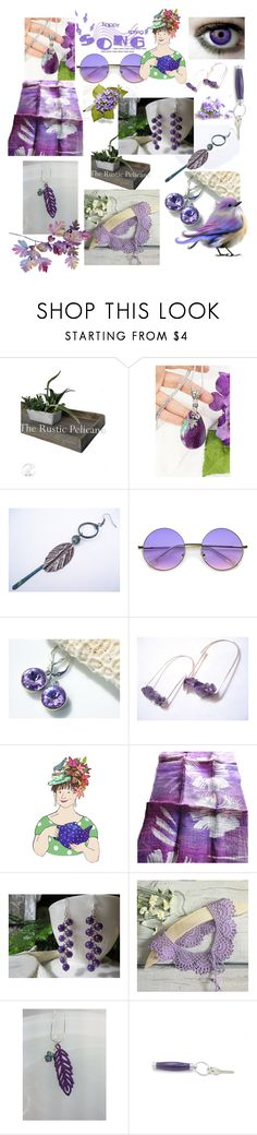 """""""Happy Spring Song"""" by anna-recycle ❤ liked on Polyvore featuring ZeroUV, modern, rustic and vintage"""