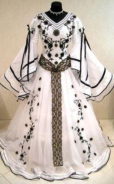 Medieval Wedding Dress Victorian Larp Goth X-mas Costume Wicca Period Xs-s-m 10