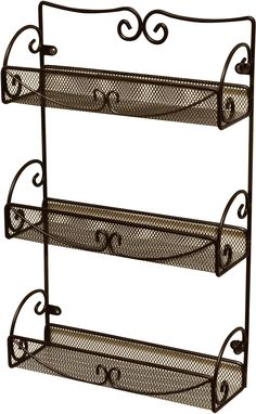 DecoBros 3 Tier Wall Mounted Spice Rack, Bronze.  Embellishment, embossing powder, and other small bottle storage.  Great Price!