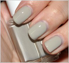 """Essie """"Playa Del Platinum"""". I. love. this. color. It's grey but it's brown. And pink. Amazing stuff. Goes on opaque, lasts for weeks! $8"""