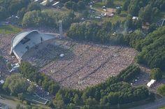 Estonia's song festival 2014--100,000 spectators waiting for the show to start.  Yep--one hundred thousand.