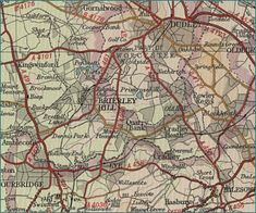 olde world Brierley Hill map