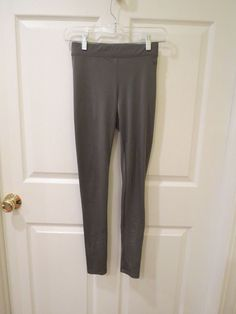 REASONABLE OFFER'S ACCEPTED TODAY!!  Pink/Victoria's Secret Metallic Shimmering Grey Legging's Size XS/TP NICE!! #PinkVictoriasSecret