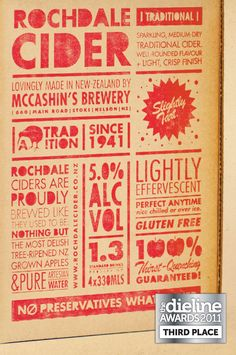 The Dieline Awards 2011: Third Place - Rochdale Cider