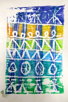 Cassie Stephens: In the Art Room: Troubleshooting Printmaking with the Littles - marker prints