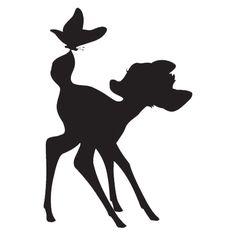 bambi silhouette - Google Search                                                                                                                                                     More
