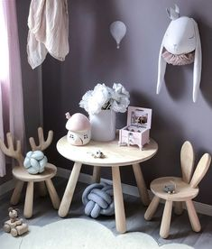 A sweet space. Adorable chairs