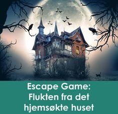 Escape game: Flukten fra det hjemsøkte huset Et grøssende morsomt escape game / mysterie for barn i alderen ca. 9-14 år! Professor Fledermaus er forsvunnet og huset hans er hjemsøkt av nifse skapninger. Barna må redde professoren og avsløre hans grusomme hemmelighet. Oppgaver skal løses i seks låste rom. Passe vrient og grøssende gøy! Escape Room, Escape Games, Grape Vines, Movie Posters, Movies, Barn, Hush Hush, Converted Barn, Films