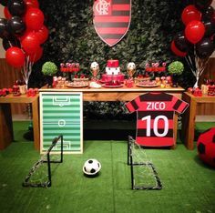 Set up guide Soccer Birthday Parties, Soccer Party, Happy Birthday, Soccer Decor, Football Themes, Happy Mothers Day, Holiday Parties, Party Themes, Baby Shower