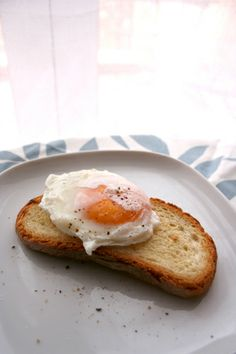"perfect poached eggs {using vinegar and creating ""vortex"" for egg}"