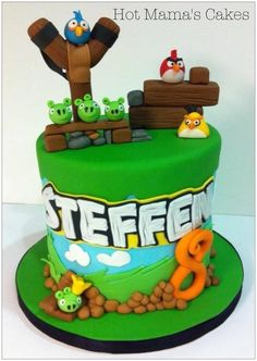 Angry birds cake for Steffen - by hotmamascakes @ CakesDecor.com - cake decorating website