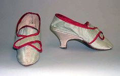 Shoes 1770, British, Made of silk
