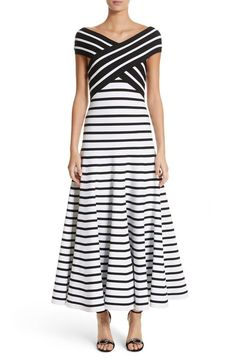online shopping for Carolina Herrera Stripe Off Shoulder Maxi Dress from top store. See new offer for Carolina Herrera Stripe Off Shoulder Maxi Dress Striped Maxi Dresses, Casual Dresses, Dressy Outfits, Carolina Herrera, Nordstrom Dresses, Ladies Dress Design, Dresses For Sale, Designer Dresses, Beautiful Dresses