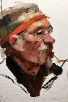 alla prima portrait sketch, oil on canvas - Heather Lenefsky Art Portrait Sketches, Figure Painting, Bandana, Oil On Canvas, Art Commissions, Illustration Art, Van, Fine Art, Artwork