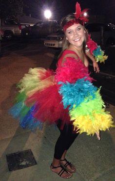 Homemade Costume. Parrot