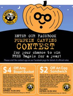 Einstein Bros Bagels coupons & Einstein Bros Bagels promo code inside The Coupons App. Couple bucks off an egg sandwich or bucket at Einstein Bros Bagels May Printable Coupons, Printables, Einstein, Pumpkin Carving Contest, Egg Sandwiches, App, Free Food, Bagels, Give It To Me