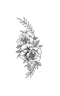 Skull Tattoos, Mini Tattoos, Cute Tattoos, Unique Tattoos, Beautiful Tattoos, Body Art Tattoos, Sleeve Tattoos, Tattoo Outline Drawing, Rose Drawing Tattoo