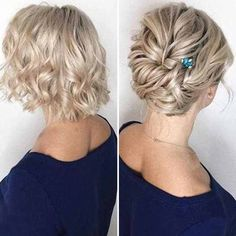 Bob Wedding Hairstyles, Hairdo Wedding, Veil Hairstyles, Short Wedding Hair, Headbands For Short Hair, Short Hair Updo, Short Hair Cuts, Medium Hair Styles, Curly Hair Styles