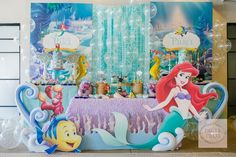 Paige and Pierce's the Little Mermaid Party – Dessert Spread