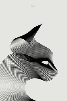 Graphic designer Andrea Minini is adept at transforming clean, curving lines into elegant creatures. Through his vector illustrations, the artist conveys striking portraits of animals who are represented by sleek, flowing curves and thoughtful shadowing. 'What I love in graphic design is speed: good projects have to be clear and powerful at first sight,' Minini told us. For his latest series, the designer continues to expand upon his linear creations by adding color to his Animals in Moi
