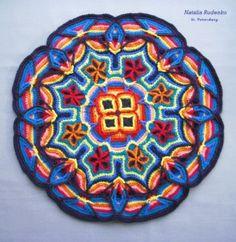 Fiesta Mat Crochet Mandala by Podarok