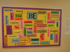 My school guidance counselor's latest bulletin board. Love it!
