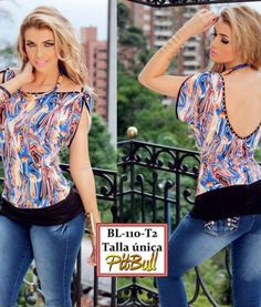 Blusa_dama_PBL110T2 Blouses For Women, Floral Tops, Barbie, Plus Size, Sewing, Php, Pitbull, Fashion, Outfits