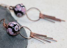 Boucles d'oreilles boho bohème chics perles au chalumeau