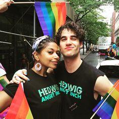 DarrenCriss: Happy Pride y'all! @onerebeccajones #HedwigOnBway #NYCPride