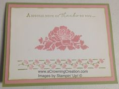 Cynthia McQueen-The Paper Queen www.aCrowningCreation.com Stampin up! Floral…