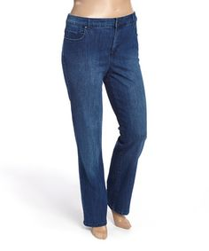 Love this Medium Blue Mystere Bootcut Jeans - Plus on #zulily! #zulilyfinds