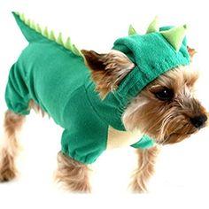 ¡Seguro que no has visto nada más guay! No puedo dejar de mirar la foto pensando cómo le quedaría este espectacular disfraz de dinosaurio a mi perro. ¡Está conseguidísimo! ¿No crees?