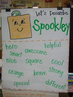 Mrs. Plant's Press~great bubble map - We watched Spookley last night! The girls ♡♡♡ this movie!!!:)
