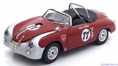 Kategorie: Rennsport  Hersteller: Schuco  Maßstab: 1:18  Marke: Porsche  Typenbezeichnung:  356 A Carrera GT Speedster  No.77  Fahrer: Bruce Jennings  Jahrgang: 1959  Material: Metall