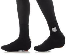 Santini 365 Peel Lycra Overshoes - Black | Merlin Cycles