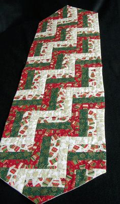 Quilted Christmas Holiday Table Runner, Table Topper, Table Decor - Makower Christmas