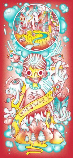Raul Urias, un illustrateur Mexicain dont nous avions déjà parlé il y a quelques temps (à voir ici : Bye School – 23 Illustrations de Raul Urias)