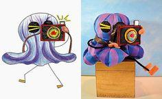 Children's drawings had turned real toys. Desenhos de crianças viram brinquedos de verdade. (Wendy Tsao)