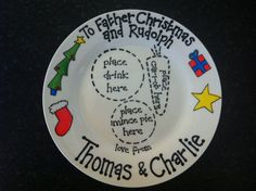 These cute personalised Christmas plates are a unique way for your child to leave a mince pie and a carrot out for Santa on Christmas Eve.